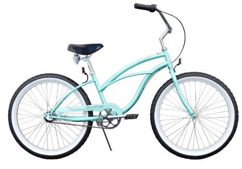 """Urban Lady Beach Cruiser Bike 24"""" Firmstrong 3 speed - mint green"""