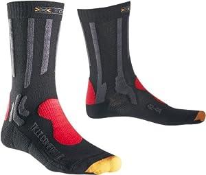 X-Socks Trekking Light & Comfort Unisex Functional Socks - charcoal / red / grey, 8-9.5