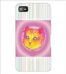 PrintDhaba Cat D-3463 Back Case Cover for BLACKBERRY Z10 (Multi-Coloured)