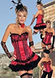 3 Looks In 1 Dance Hall Holly Sexy Holiday Party Costume (Red/Black;X-Large)