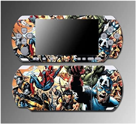 Spiderman Spider Man Captain America Movie Game Vinyl Decal Sticker Cover Skin Protector #3 for Sony PSP Slim 3000 3001 3002 3003 3004 Playstation Portable