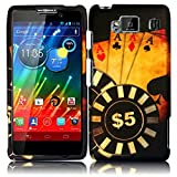Warrior Wireless (TM) Motorola Droid Razr Maxx HD XT926M Hard Matte Design Cover Case - Ace Poker + Bundle = (ITEM + CELLPHONE STAND) - By TheTargetBuys