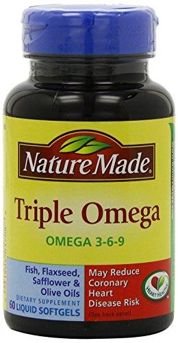 Nature Made Triple Omega, Liquid Softgels, 60 Ct (Pack Of 2)