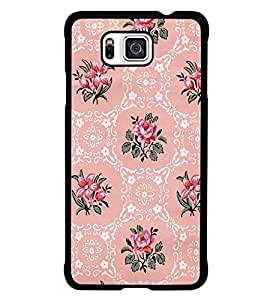 PrintDhaba Floral Pattern D-2112 Back Case Cover for SAMSUNG GALAXY ALPHA (Multi-Coloured)