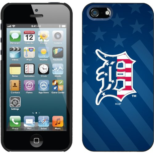 Special Sale Detroit Tigers - USA Blue design on a Black iPhone 5 Thinshield Snap-On Case by Coveroo