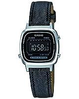 Casio - LA670WL-1B - Vintage - Montre Femme - Quartz Digital - Cadran Noir - Bracelet Cuir Noir