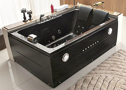 2 person bathtub black jacuzzi type whirlpool 14 massage for Types of hot tubs