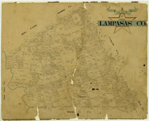 Map of Lampasas County, 1888
