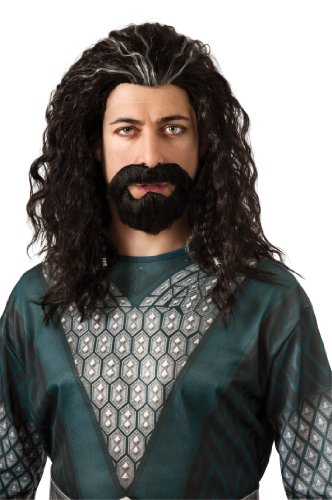 Rubie's Costume The Hobbit Thorin Hair Kit, Black/Grey Streak, One Size