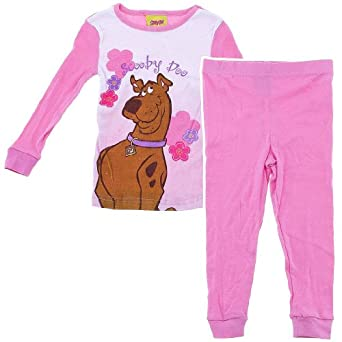 Amazon.com: Scooby Doo Pink Cotton Pajama Set for Toddler Girls 2T