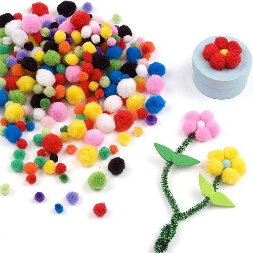 Lot de 500 Mini Pompons Colorés - Idéal pour les créations de Pâques