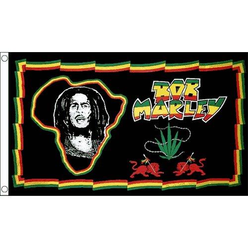 Bob Marley (Africa) Bandiera 1,5x 0,9m Caraibi Rasta Reggae Jamaican Banner Nuovo