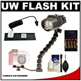 51xS9AR1twL. SL160  Intova ISS Underwater Slave Flash with StaySlim Bracket with Flex Arm + Fiber Optic Cable + AA Batteries & Charger + Cleaning Kit 4000