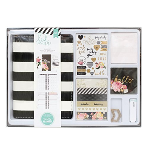 american-crafts-heidi-swapp-memory-planner-kit-gold-foil-black-and-white-929-piece
