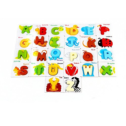 Youtop-26pcs-A-Z-Letters-Alphabet-Learning-Wooden-Puzzle-Cards-for-Kids