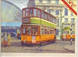 George Square, Glasgow - trams (greetings card)