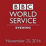 Evening: November 25, 2016 | Owen Bennett-Jones,Lyse Doucet,Robin Lustig,Razia Iqbal,James Coomarasamy,Julian Marshall