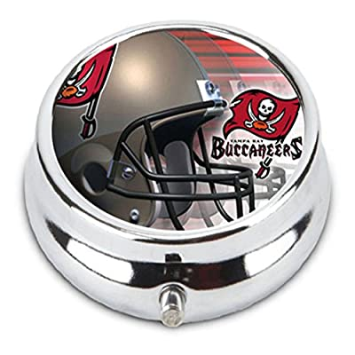 Tampa Bay BUCCANEERS Custom Fashion Pill Box Medicine Tablet Holder Organizer Case for Pocket or Purse