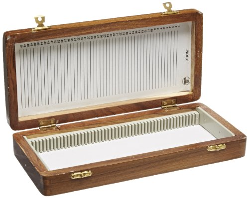 United-Scientific-WSB050-Wooden-Slide-Storage-Box-Holds-50-Slides