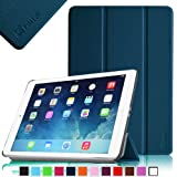 Fintie SmartShell Case for Apple iPad Air (iPad 5 5th Generation) Ultra Slim Lightweight Leather Stand (with Smart Cover Auto Wake / Sleep) – Navy
