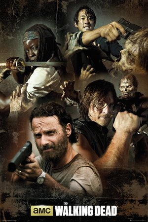 GB eye, The Walking Dead, Collage, Maxi Poster, 61x91.5cm