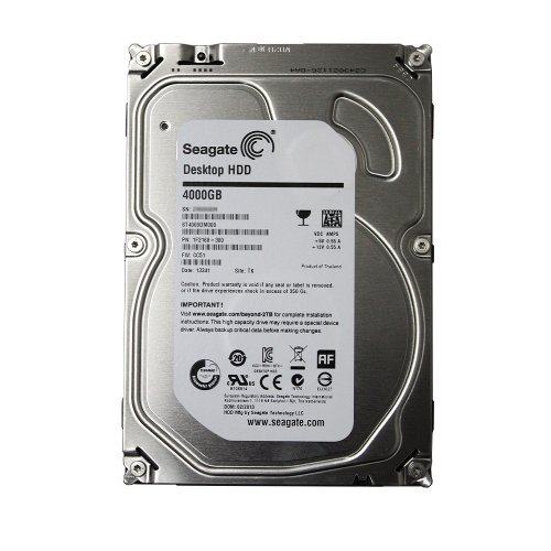 Seagate Desktop HDD 4 TB SATA 6Gb/s NCQ 64MB Cache 3.5-Inch Internal Bare Drive ST4000DM000