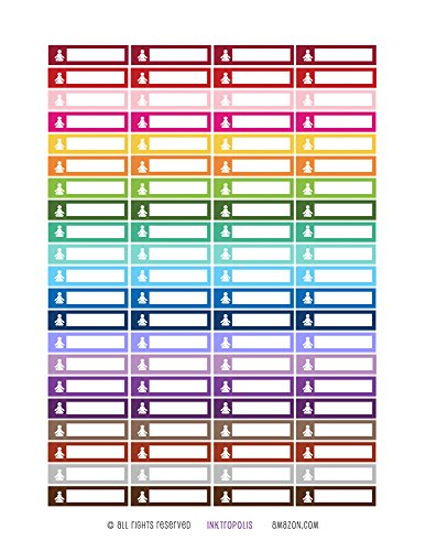 Monthly Planner Stickers Rainbow Yoga Fitness Stickers Planner Labels Compatible with Erin Condren Vertical Life Planner