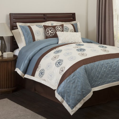 Cheap Blue And Brown Comforter Sets