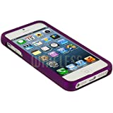 """myLife (TM) Purple Flat Series (2 Piece Snap On) Hardshell Plates Case for the iPhone 5/5S (5G) 5th Generation Touch Phone (Clip Fitted Front and Back Solid Cover Case + Rubberized Tough Armor Skin + Lifetime Warranty + Sealed Inside myLife Authorized Packaging) """"ADDITIONAL DETAILS: This two piece clip together case has a gloss surface and smooth texture that maximizes the stylish appeal of your iPhone 5 and brings out the unique colors and designs in the case itself."""""""