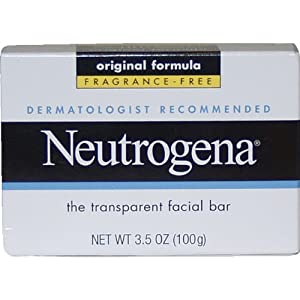 Neutrogena Fragrance Free Transparent Facial Bar, Original Formula, 3.5 Ounce (Pack of 3)