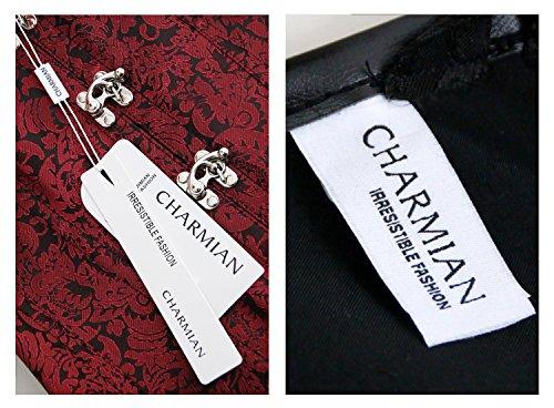 Charmian Women's Gothic Steampunk Brocade Steel Boned Waist Cincher Corset Vest 5
