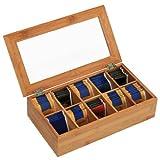 Kesper 5090113 Tee-Box mit 10 Fächern Bambus 36 x 20 x 9 cm