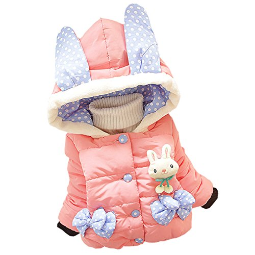 Kids Baby Girls Cotton Coat Winter Warm Jacket Outerwear