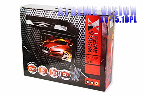 """Xtremevision Xv-15.1Dpl Tft 15.1"""" Lcd Flip Down Dvd Monitor Tan Color Built-In Plays Dvd Usb Sd Mp4"""