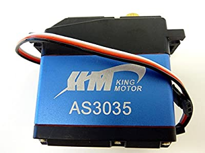 King Motor AS3035 Replacement Steering Servo 35kg Fits HPI Baja 5b, 2.0, SS 5b flux, 5t, 5sc, King Motor and Rovan Buggies and trucks, Rovan LT305 and many other 1/5 scale vehicles