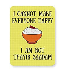 PosterGuy Mouse Pad - Happiness = Thayir Saadam | Designed by: We Are TamBrahm