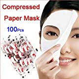 SODIAL(R) 100 pcs Skin Face Care DIY Facial Paper Compress Masque Mask