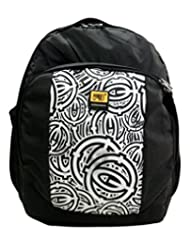 FB Fashion Backpacks For School And College(White And Black)