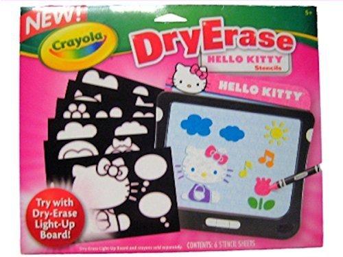 Crayola Dry Erase Hello Kitty Stencils - 1