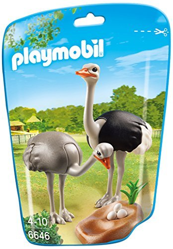 PLAYMOBIL Ostriches with Nest Building Kit - 1