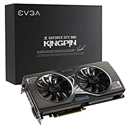 EVGA GeForce GTX 980 4GB K|NGP|N ACX 2.0+, Whisper Silent w/ Multi-Color LED Cooler, Customized Overclocking Graphics Card 04G-P4-5988-KR