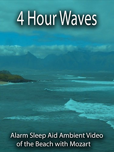 4 Hour Waves Alarm Sleep Aid Ambient Video of the Beach With Mozart