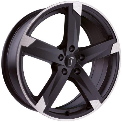 1 x Rondell Z Design 01RZ in 7,5 x 17 ET 45 LZ/LK 5 x 114,3 Farbe Schwarz matt, poliert für Hyundai ix35 Typ EL, ELH, LM
