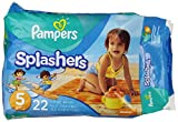 Pampers Splashers Disposable Swim Pants Size 5, 22 Count (Packaging May Vary)
