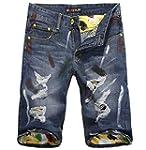 Jinmen Mens Rugged Wear Denim Shorts...