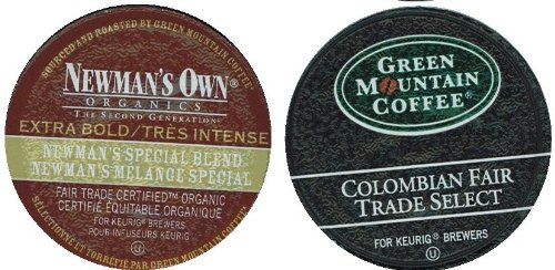 96 Newman'S Own Extra-Bold Special Blend Coffee K-Cups And Colombian Fair Trade Select Coffee K-Cups For Keurig Brewers