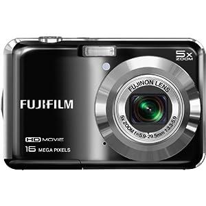 Fujifilm FinePix AX655 {Manufacturer Refurbished} 16MP Digital Camera (Black) HD 720p Movies Video w/ Fujinon 5x Optical Zoom Lens, CCD Sensor, and 3-Inch 230k-dot LCD, Built-in Flash & Image Stabilization