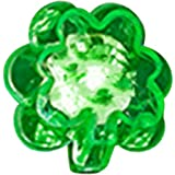 Blinking LED Shamrock Rings