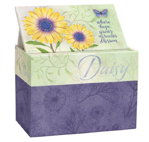 Lang Daisy Recipe Card Box With Recipe Card