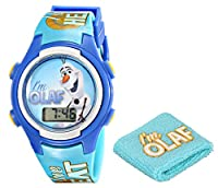 Disney Kids' FNF005T Frozen Olaf Digital Display Quartz Blue Watch with Wristband Gift Set by Disney